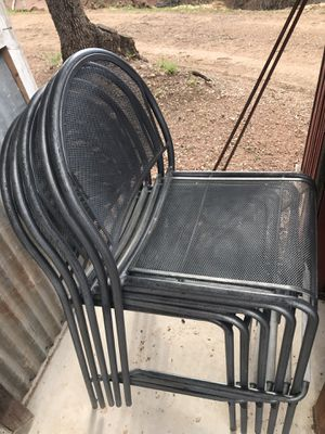 Chairs - 5 All Metal Outdoor Chairs for Sale in Young, AZ