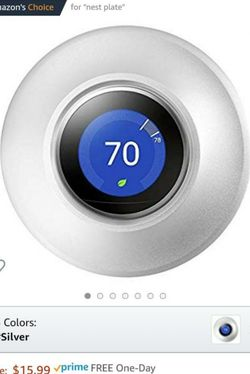 Nest Thermostat Wall Plate - BRAND NEW - Stainless Steel for Sale in Irvine,  CA