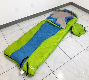New in box $15 Camping Sleeping Bag Waterproof Indoor & Outdoor Hiking Lightweight w/ Portable Bag for Sale in Whittier, CA