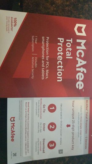 McAfee total protection for Sale in Meriden, CT