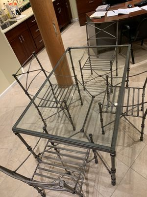 Glass Dining Table and 4 chairs for Sale in Hayward, CA