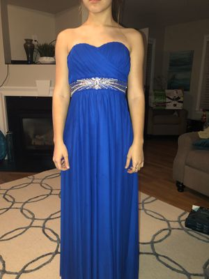 Sequin Hearts Royal Blue Long Formal Prom Dress for Sale in Greenville, SC