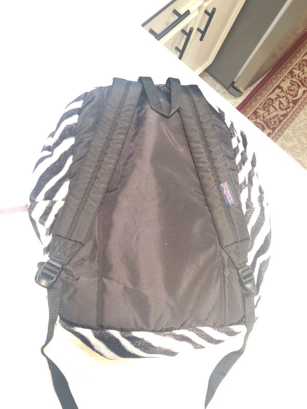 Zebra print Jansport Backpack ~ Great Condition