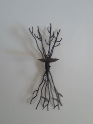Set of 2 Tree of life Candle Holders; wrought iron twig wall hanging candle holders x 2 for Sale in North Chesterfield, VA