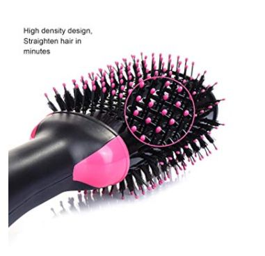Hair Dryer Brush, One-step Hair Dryer and Volumizer Blower Brush for Dry & Straighten & Curling, Hot Air Styling Brush, Smooth Frizz with Negative Io