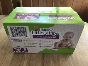 Happy Little Campers Crawler Diapers - size 3 for Sale in La Mesa, CA