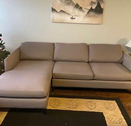 Crate & Barrel 2-Piece Chaise Sectional for Sale in Park Ridge,  IL