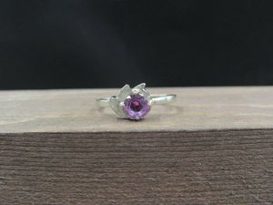Size 6 10K Gold Unique Purple Sapphire Band Ring Vintage Estate Wedding Engagement Anniversary Gift Idea Beautiful Elegant Unique Cute for Sale in Everett, WA