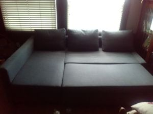 Dark Grey Couch with storage-MUST GO buy July 13th for Sale in San Leandro, CA