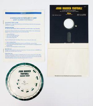 "EA John Madden Football Season Ticket 5.25"" Floppy Disk (1988/89) - IBM PC Tandy for Sale in Trenton, NJ"