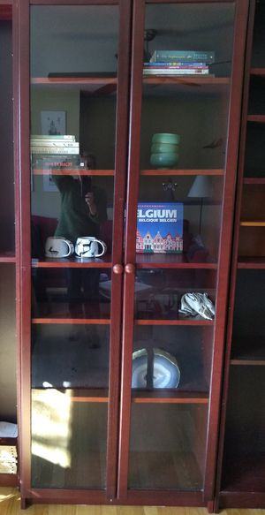 Billy bookcase with glass doors for Sale in College Park, MD