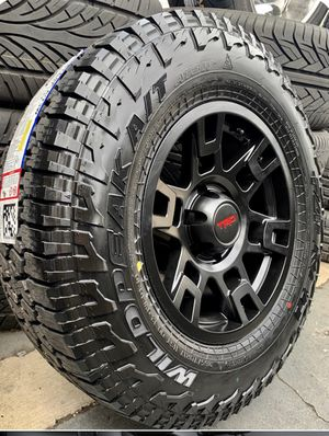 """17"""" TRD Replica Wheels Package Package Includes Rims & Tires Size 6x139 ( 265/70R17 Falken Wildpeak AT3 ) Fits Tacoma's , 4runners & More 🔥 Compl for Sale in La Habra, CA"""