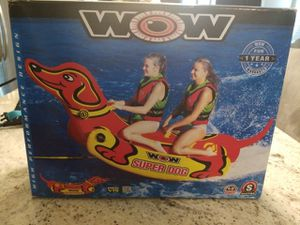 New WOW super dog inflatable towable boating float 1-2 riders river lake outdoor recreation for Sale in Gilbert, AZ
