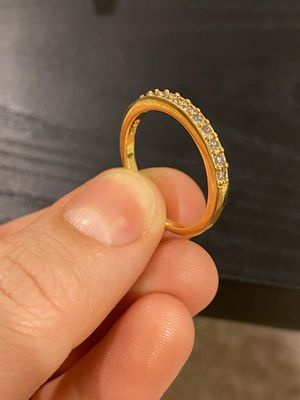 18K Gold plated Engagement Trendy Ring for Sale in Houston, TX