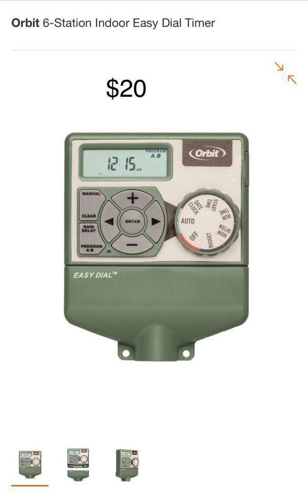 Orbit 6 station indoor easy dial timer