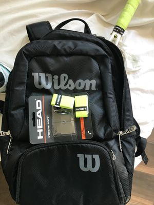 Almost brand new Wilson speed Tennis racket. Strings are perfect condition with Wilson backpack for Sale in San Diego, CA