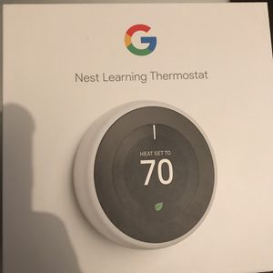 Nest Thermostat Stainless Steel for Sale in Queens, NY