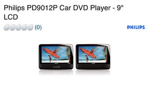 """Phillips DVD Car Player 9"""" for Sale in Edna, TX"""