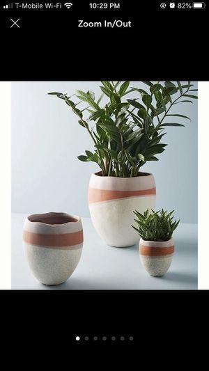 """Egg Stone Ceramic Pot Small: 4""""H, 3.5"""" diameter Stoneware for Sale in Seattle, WA"""
