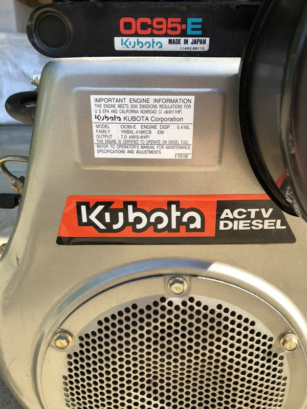Kubota OC95 9HP Diesel Engine for Generator for Sale in Amherst, OH -  OfferUp