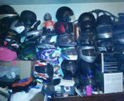 Helmets, full face, Shorty's, flip fronts... I've got a few, also chaps jackets pants lots of motorcycle gear for Sale in Denver, CO