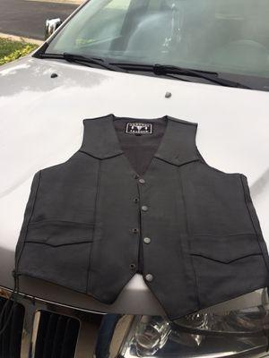 Motorcycle leather vest for Sale in Boynton Beach, FL