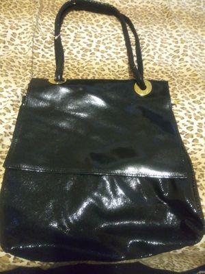 Shiney black Ravasi tote bag New never used shiney for Sale in Denver, CO