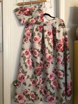 Floral two piece Prom Dress for Sale in Fort Lauderdale, FL