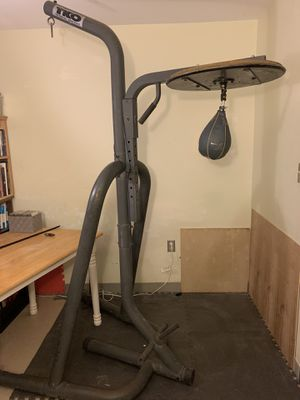 TKO punching bag stand w/ professional swivel and speedbag for Sale in Amherst, MA