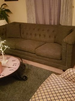 Beautiful Grey Studded Couch/ 2 Side Chairs for Sale in Romeoville,  IL