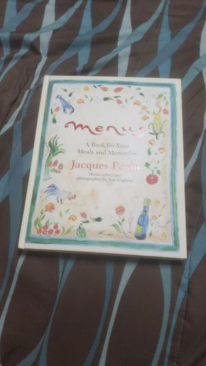 Menus A Book for Your Meals and Memories! Jacques Pépin for Sale in Odessa, FL