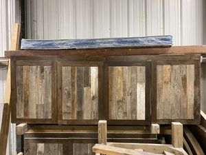 BASE CABINET WITH RECLAIMED PICKET PANELS for Sale in Houston, TX