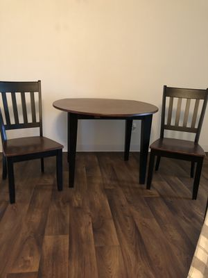 Drop-Leaf Dining Table and 2 Dining Chairs for Sale in Florissant, MO