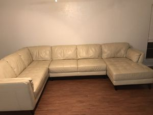 Large leather sectional sofa couch for Sale in Austin, TX
