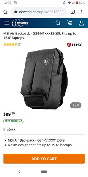 MSI Backpack for Sale in Butte, MT
