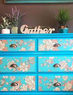 Turquoise Dresser—-Free Delivery for Sale in Washougal,  WA