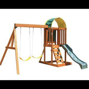 Big Backyard KidKraft Andorra Cedar Wood Swing Set for Sale in Cerritos, CA