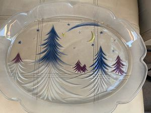 Christmas Glass Platter for Sale in Fullerton, CA