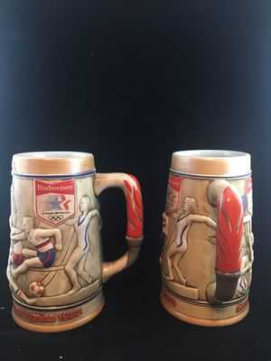 Budweiser Olympic Steins- Pair for Sale in Goodyear, AZ
