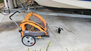 InStep Sierra Double Bicycle Trailer, 20 inch wheels, folding frame, orange for Sale in Bradenton, FL