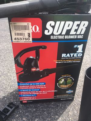 TORO Super Electric Leaf Blower for Sale in Stoughton, MA