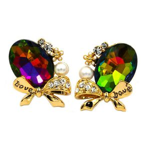 Elegant oval diamond bowknot earrings for Sale in Redwood City, CA