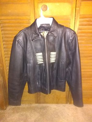 Women's Leather Indian Beaded Motorcycle Jacket for Sale in Marietta, GA