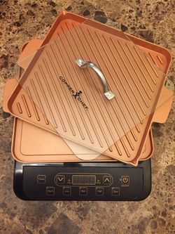 Copper chef induction cooktop with pans and press for Sale in Dover,  FL