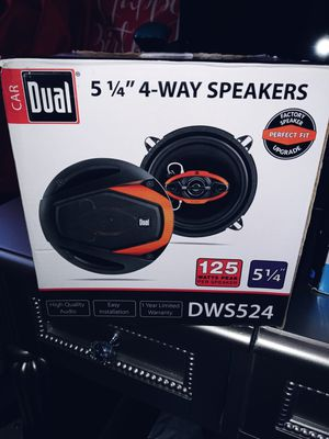 Dual DLS5240 5.25-Inch 4-Way 125W Peak Speakers - Set of 2 for Sale in Lowell, MA