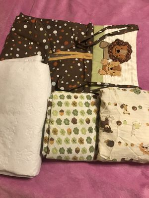 Baby crib bed sheets, bed pad, diaper holder for Sale in Gilbert, AZ