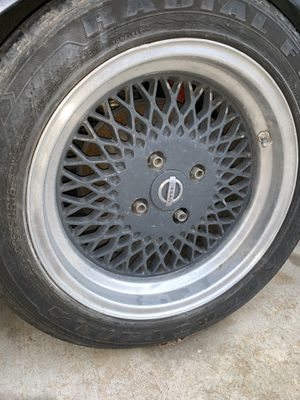 ENKEI '92 Mesh Wheels (4) w/tires for Sale in Adelanto, CA