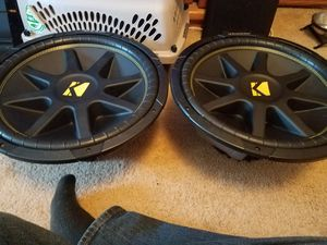 2 15in kicker comp subs for Sale in Buffalo, MN