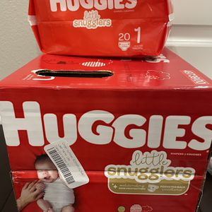 Little Snugglers Huggies Diapers Size New Born & Size 1 for Sale in Irvine, CA