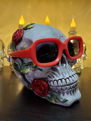 RETRO RocknRoll Sunglasses Black lenses Matte RED Frames for Sale in Long Beach, CA